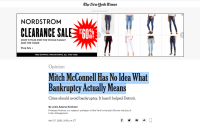 Op-Ed Contribution: Mitch McConnell Has No Idea What Bankruptcy Actually Means